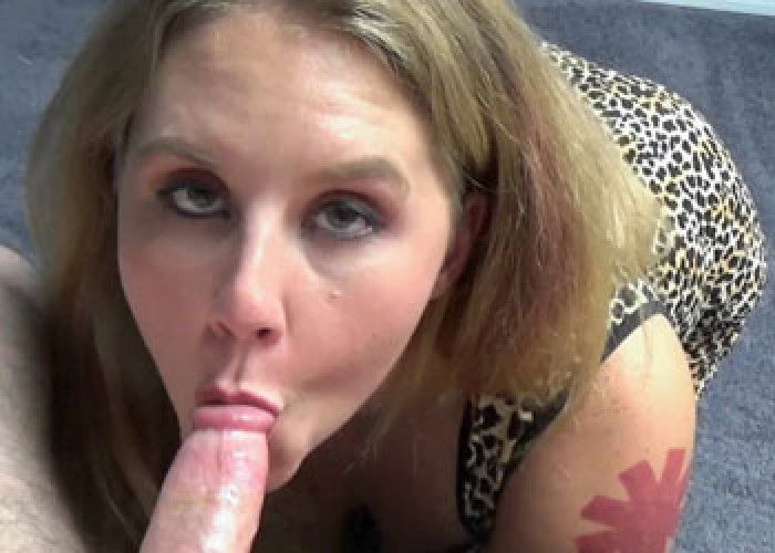 Dani Arcadia is swallowing a stiff cock